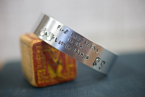image shown is an example displaying the size of the cuff. Personalize for something special!