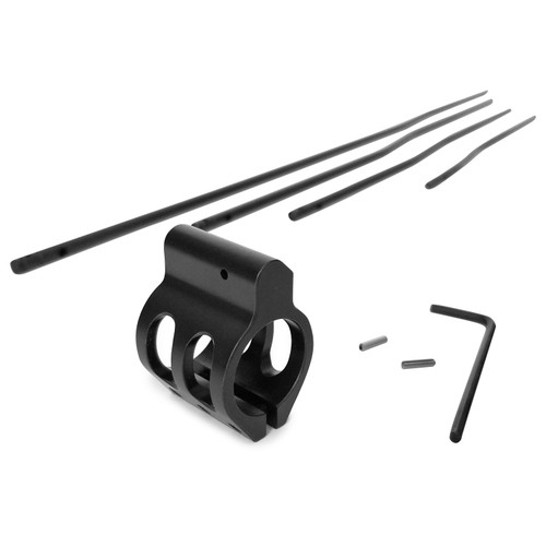 Lightweight Low Profile Clamp-On Gas Block Black Nitride Finish 0.750 for AR15 or AR10 w FREE Gas Tube of Your Choice!
