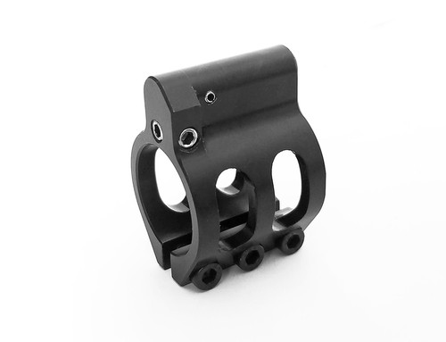 0.625, 0.750, 0.875, or 0.936 Lightweight Adjustable Low Profile Clamp-On Gas Block Black Nitride Finish for AR15 or AR10 w FREE Gas Tube of Your Choice!