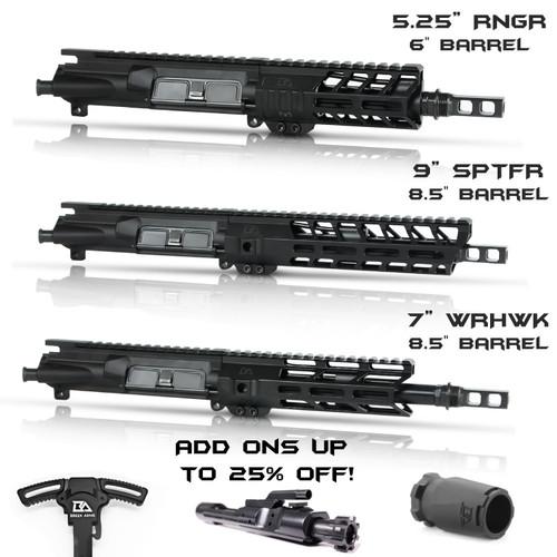 "Custom 6""- 8.5"" 300BO Complete Upper - Upper, Barrel, Handguard, Gas Block and Tube, Muzzle Brake"
