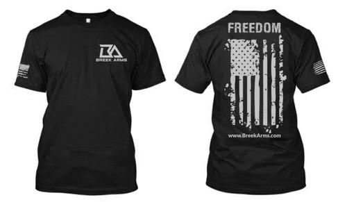 Breek Arms Black Freedom/Flag T Shirt - 60/40 Blend
