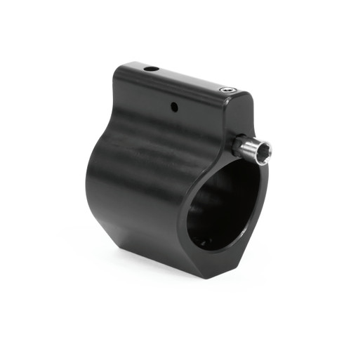 Adjustable Low Profile .750 Steel Gas Block Black Nitride w/ FREE Gas Tube of Your Choice