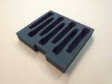 Custom 2-RU Foam Insert for 7-Pack Shure QLXD2 BETA87C Wireless Microphone Kit
