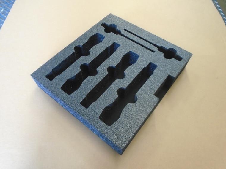 CUSTOM 2-RU FOAM INSERT FOR 4-PACK SHURE QLXD HANDHELD TRANSMITTERS WITH 3-PACK SHURE QLXD BODYPACKS