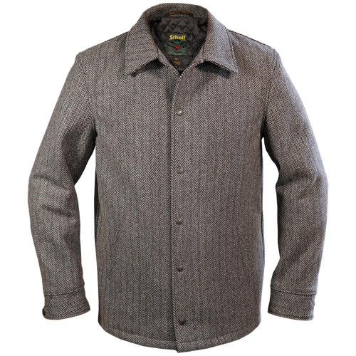 Herringbone Wool Coachman's Jacket