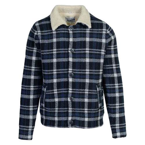 Plaid Sherpa Lined Sweater Jacket