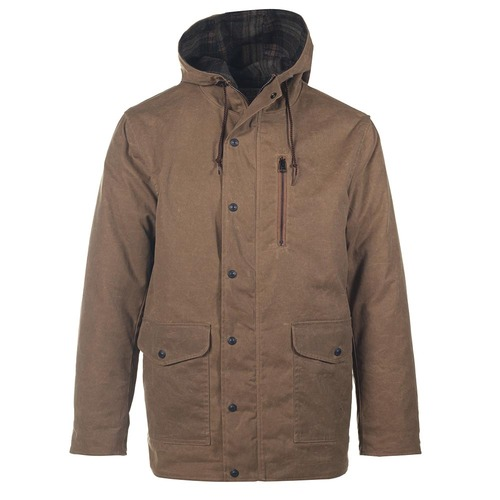 Waxed Cotton Hooded Parka