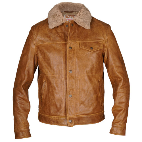 Buffalo Jacket with Sheepskin Collar Men's
