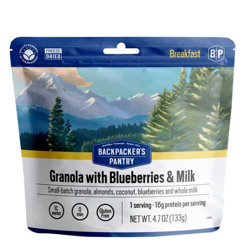 Granola with Blueberries, Almonds & Milk