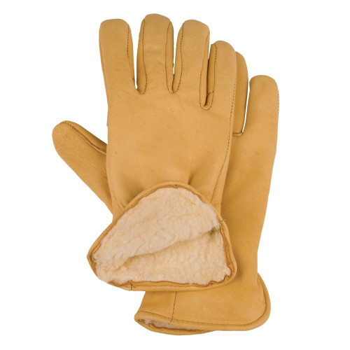 Pile Lined Deerskin Gloves