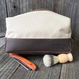 Leather & Canvas Travel Dopp Bag