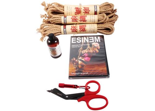 Midi Budget jute rope starter kit (4 x 8m, 1 x 4m)