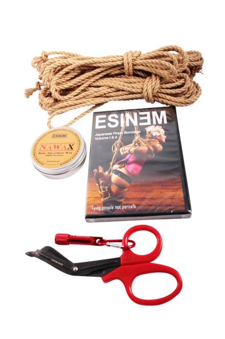 Mini standard jute rope starter kit (2 x 8m, 1 x 4m)