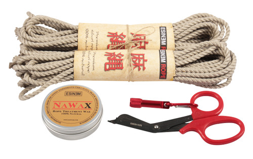 Mini standard hemp rope starter kit (2 x 30ft)