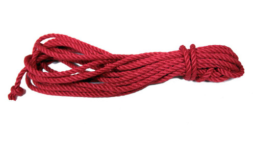Tossa jute shibari rope 6mm, red dyed sets