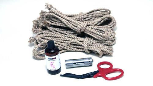 Midi newaza jute rope starter kit (4 x 8m, 1 x 4m, oil)