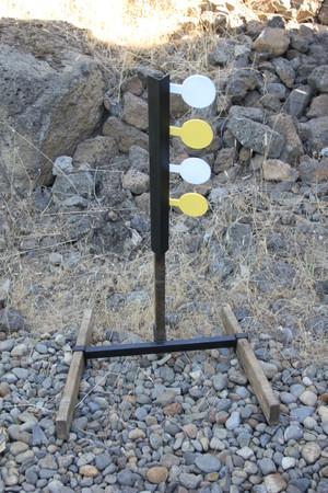 4 Paddle Rimfire Dueling Tree Set (Base Included)