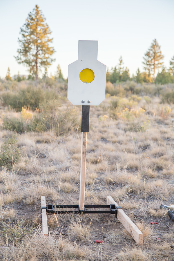 """AR500 Steel Reactive 5.5"""" Paddle Silhouette Target (21""""x12"""")"""