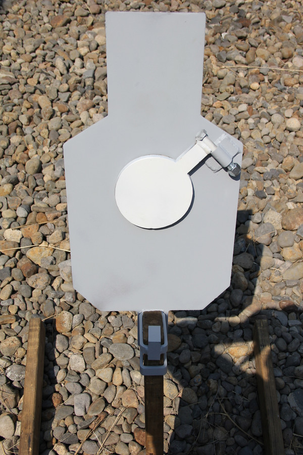 """AR500 Steel Reactive 5.5"""" Paddle Silhouette Target Set (21""""x12"""") (Base Included)"""