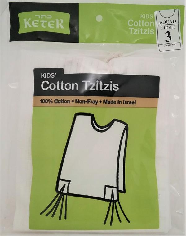 Tzitzis - Cotton - Children's - Round Neck
