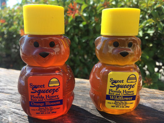 2oz Orange Blossom and 2oz Wildflower Bear Pair