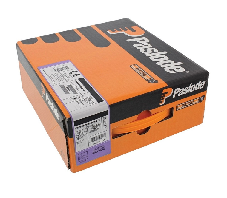 Paslode 141204 IM350 2.8mm x 51mm Galvanised Ring Framing Nails - Pack of 3300 & 3 Fuel Cells