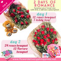 Two Days of Romance Roses & Gifts Delivery Subscription