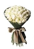 48 White Roses Round Bouquet