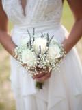White Ecuadorian Roses Bridal Bouquet