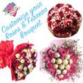 Customize Roses & Ferrero Bouquet