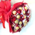 12 Roses & 18 Ferrero Bouquet
