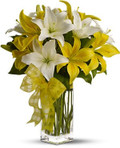 Yellow & White Lilies Bouquet