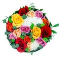 Assorted Roses Round Box