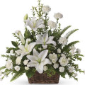 Carnations & Casablanca Lilies Basket