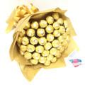 Personalized Gold Ferrero Bouquet