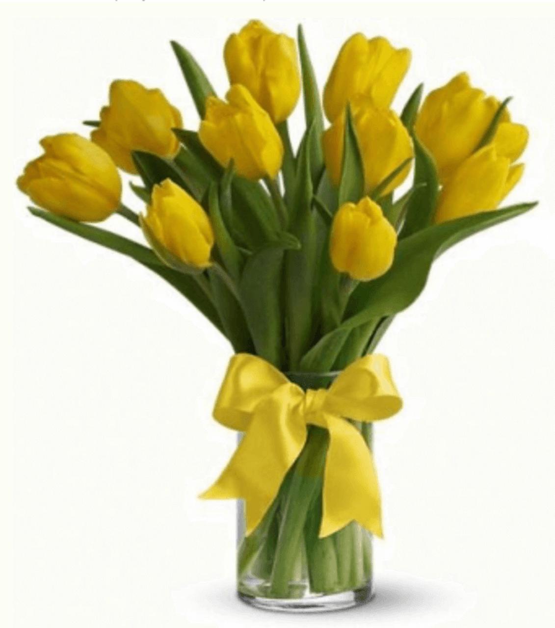 10 Yellow Tulips Bouquet