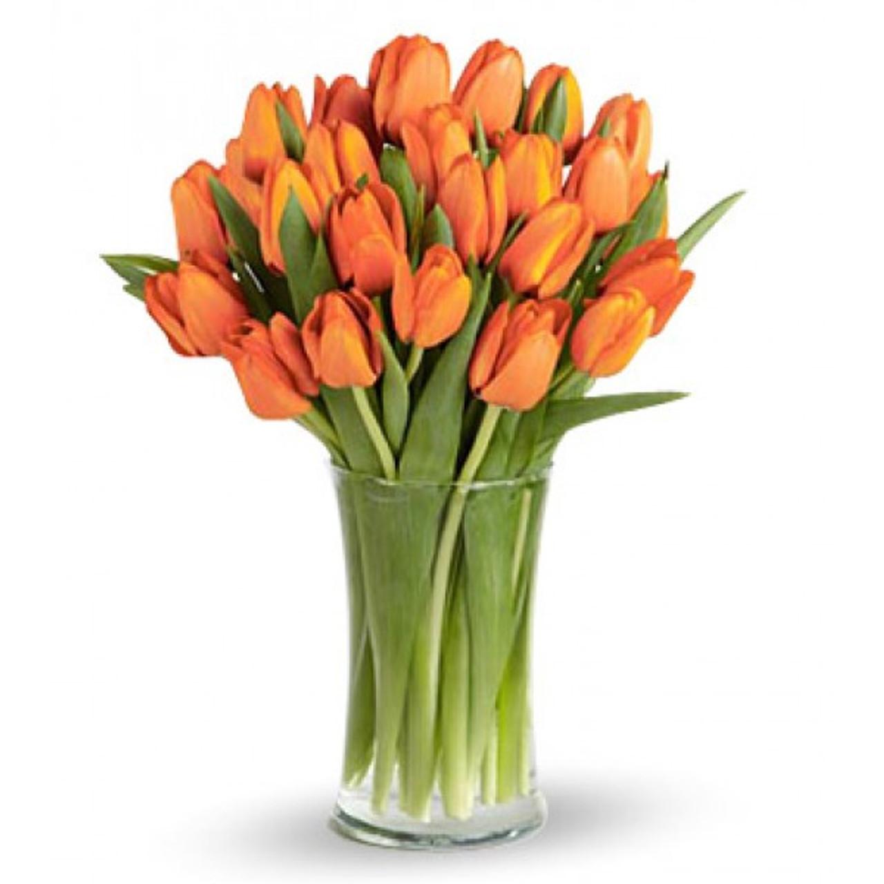20 Orange Tulips Bouquet