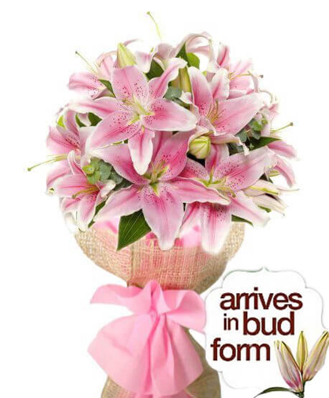 Pretty in Pink Stargazer Bouquet