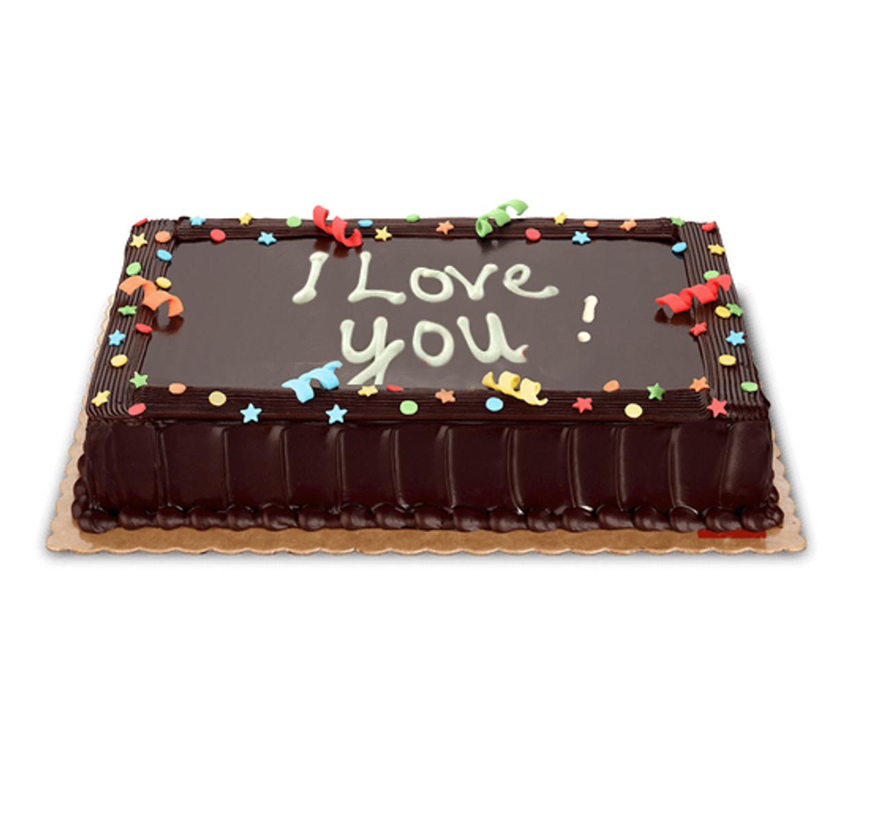 I love you Choco Cake Medium (8x12)