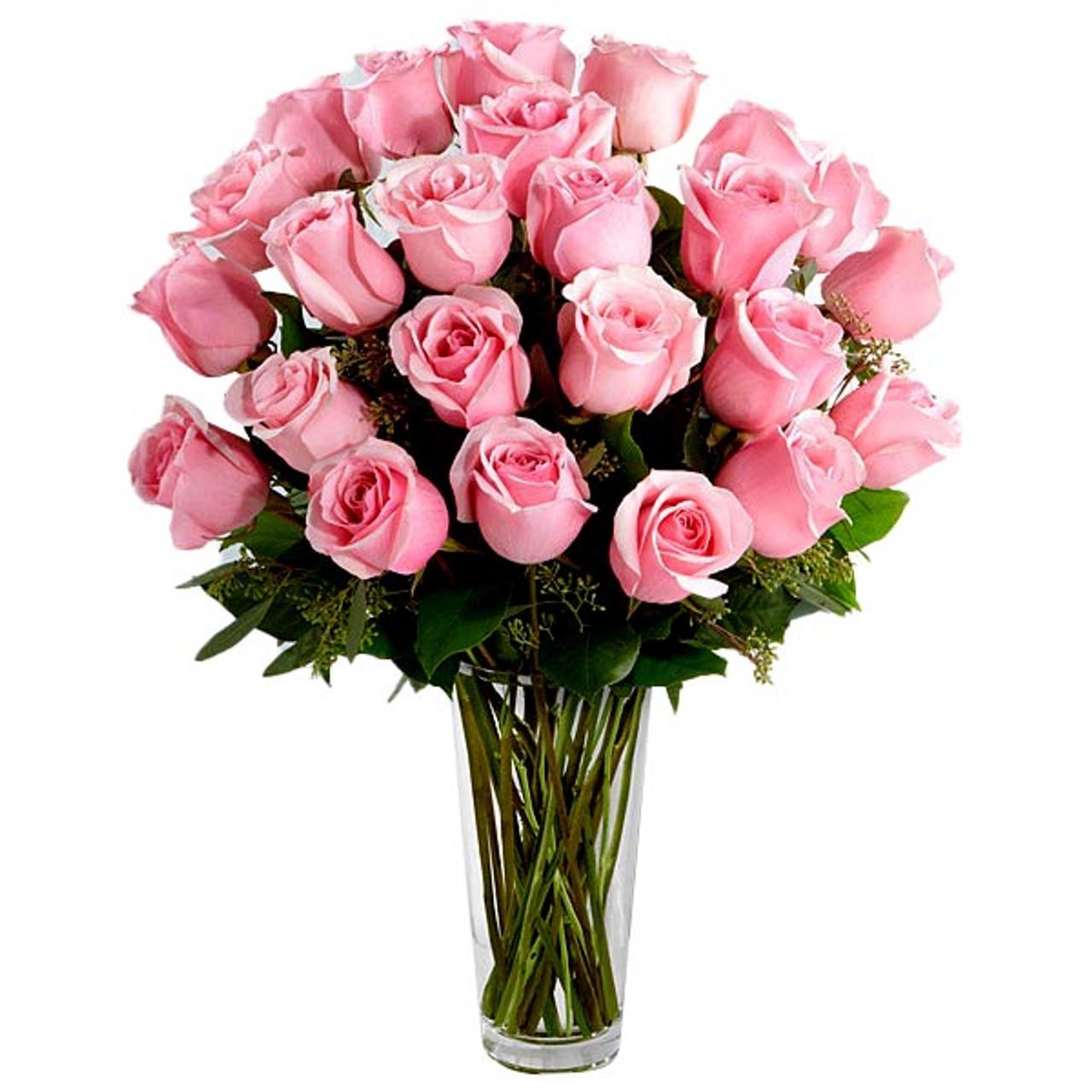 24 Pink Ecuadorian Roses