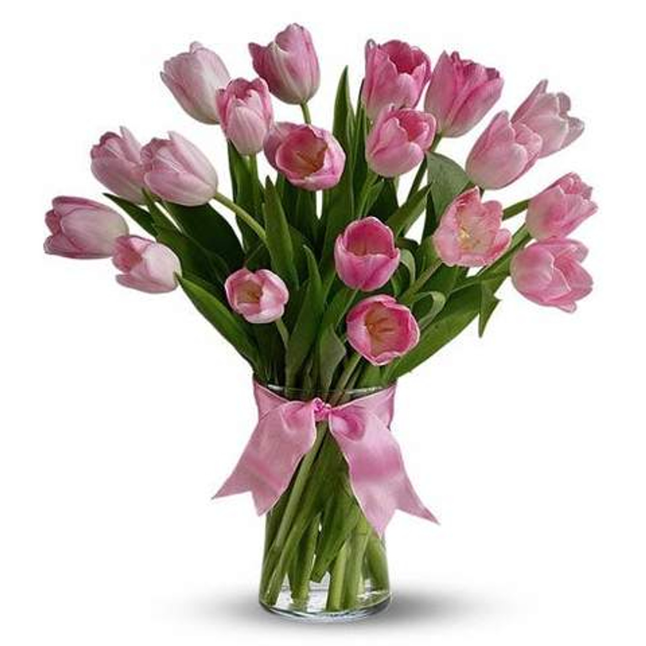 20 Pink Tulips Bouquet
