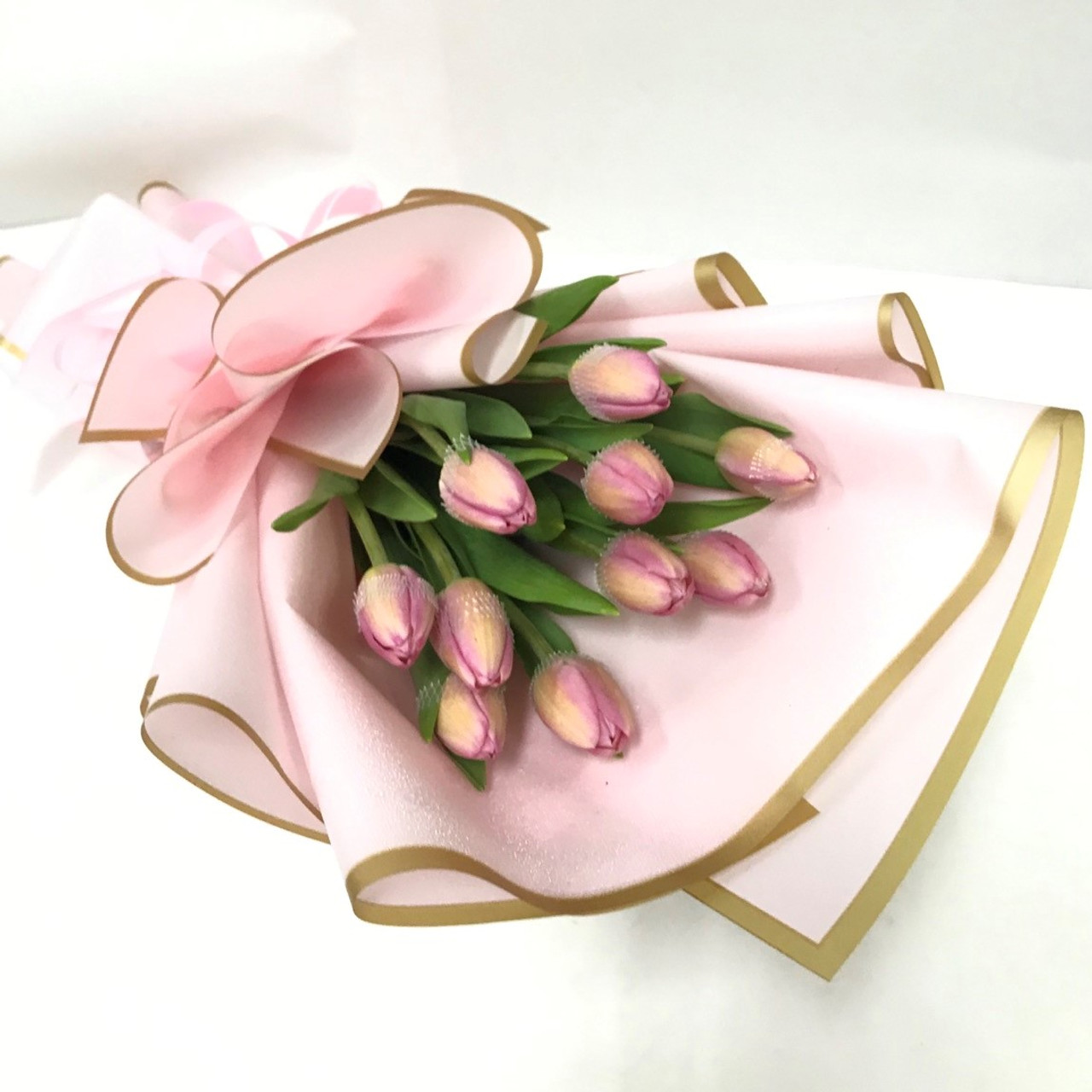 10 Pink Tulips Bouquet