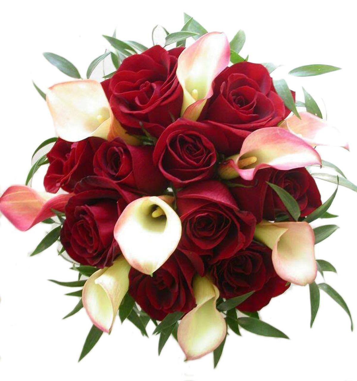 12 Roses & 12 Calla Lilies