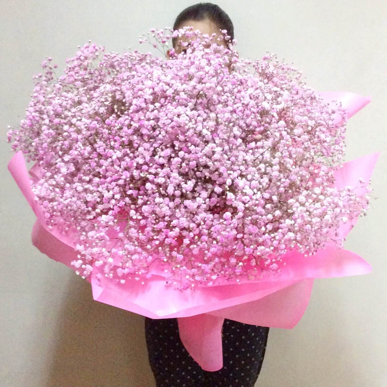 Pink & White Million Star Giant Bouquet