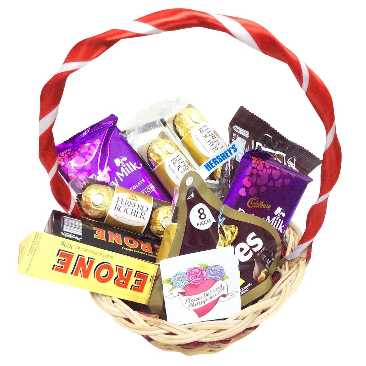 Premium chocolates basket