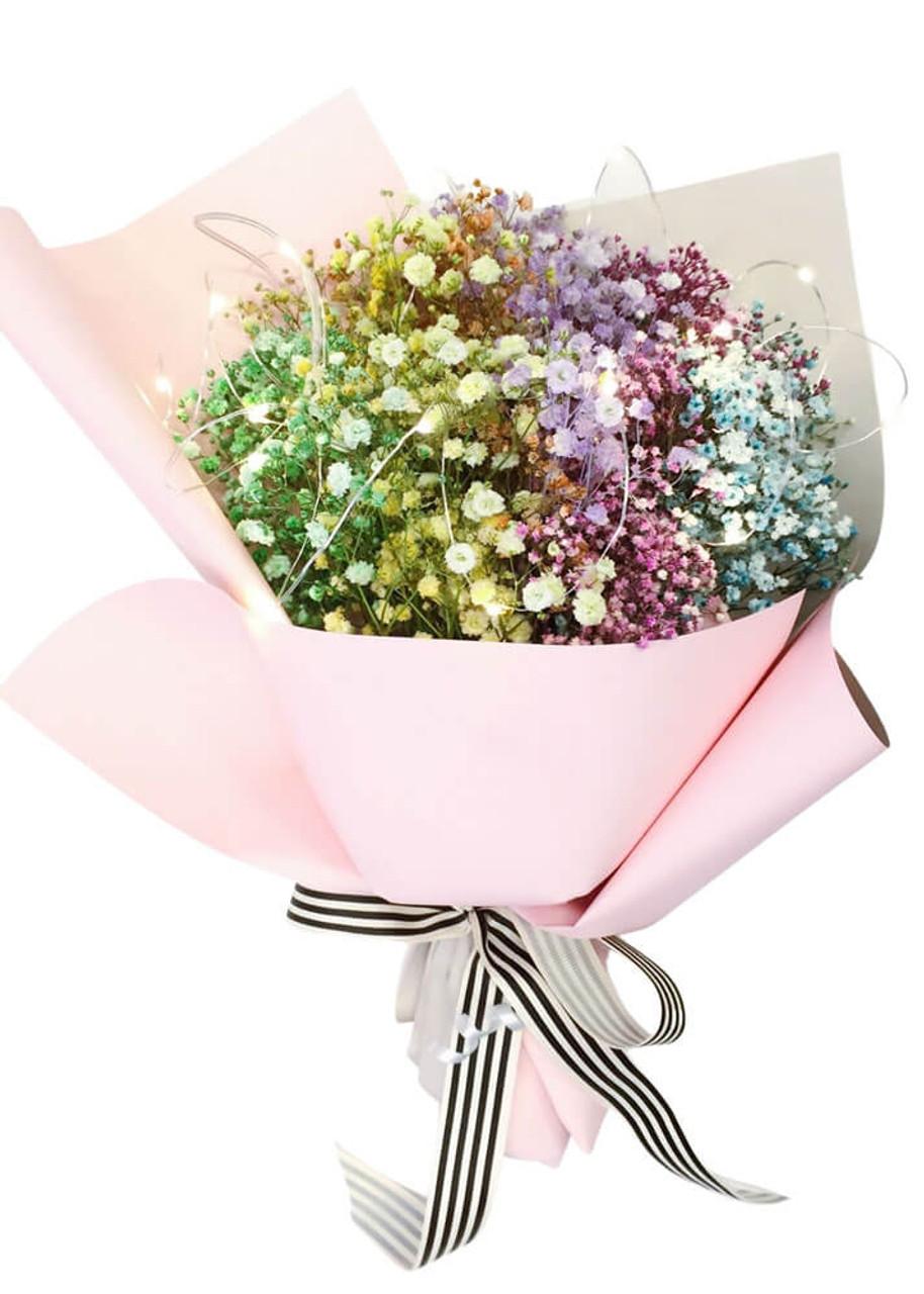 Million Star Rainbow Fairy Lights Bouquet
