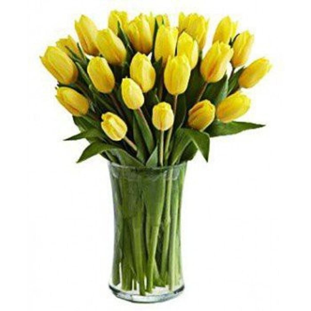 20 Yellow Tulips Bouquet