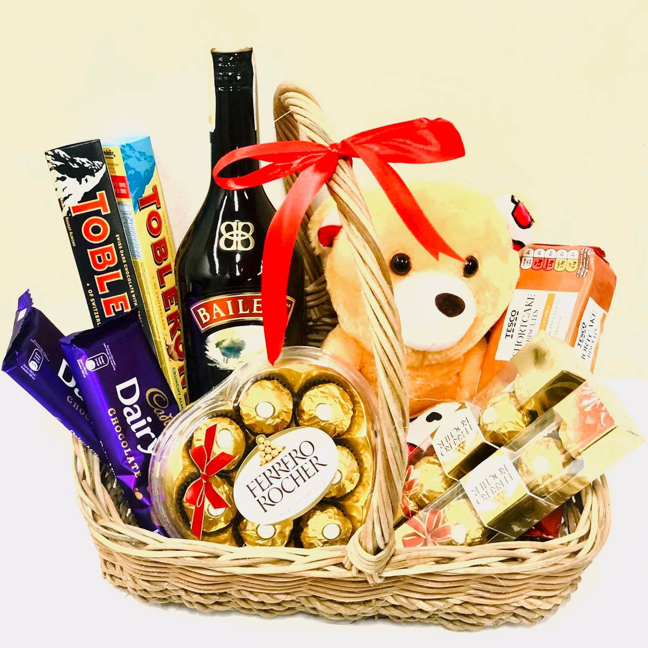 Chocolate Gourmet Teddy Basket