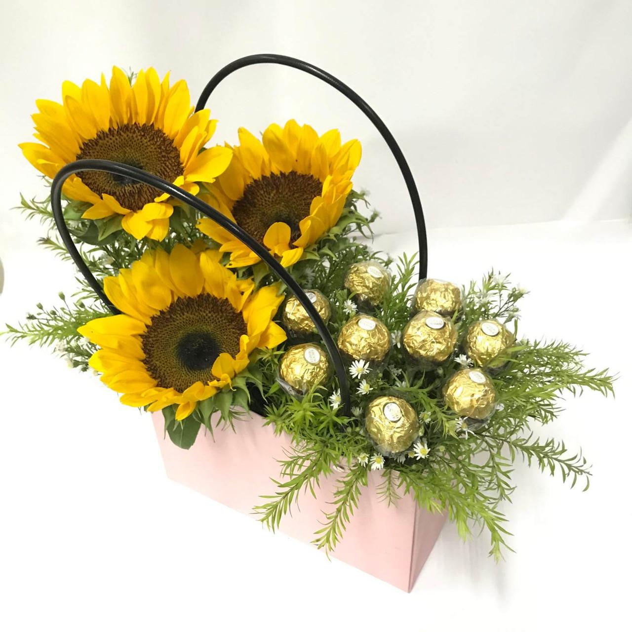 Sunflowers & Ferrero Handbag
