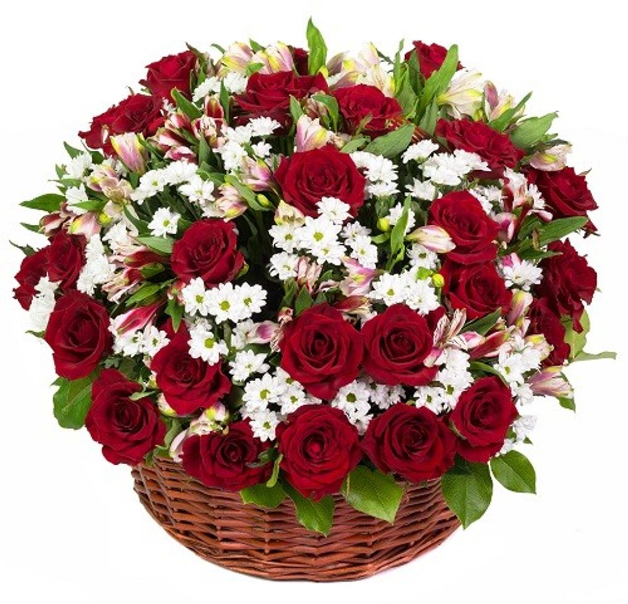 Customizable Basket of Roses